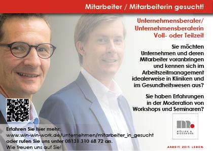 Stellenausschreibung Müller & Mooseder Unternehmensberatung