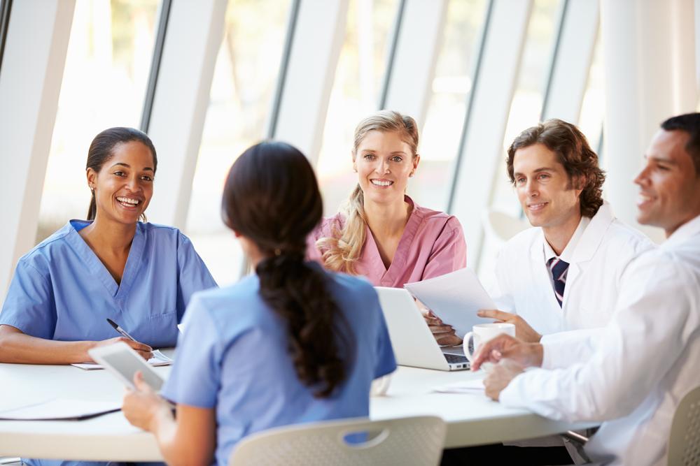 Führung und Team im Krankenhaus