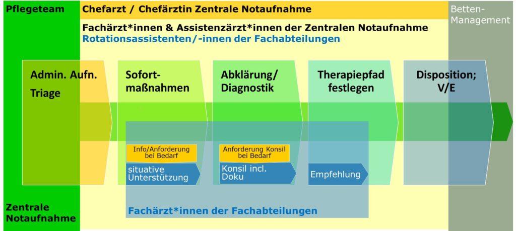 Prozess der Notfallversorgung in der Zentralen Notaufnahme